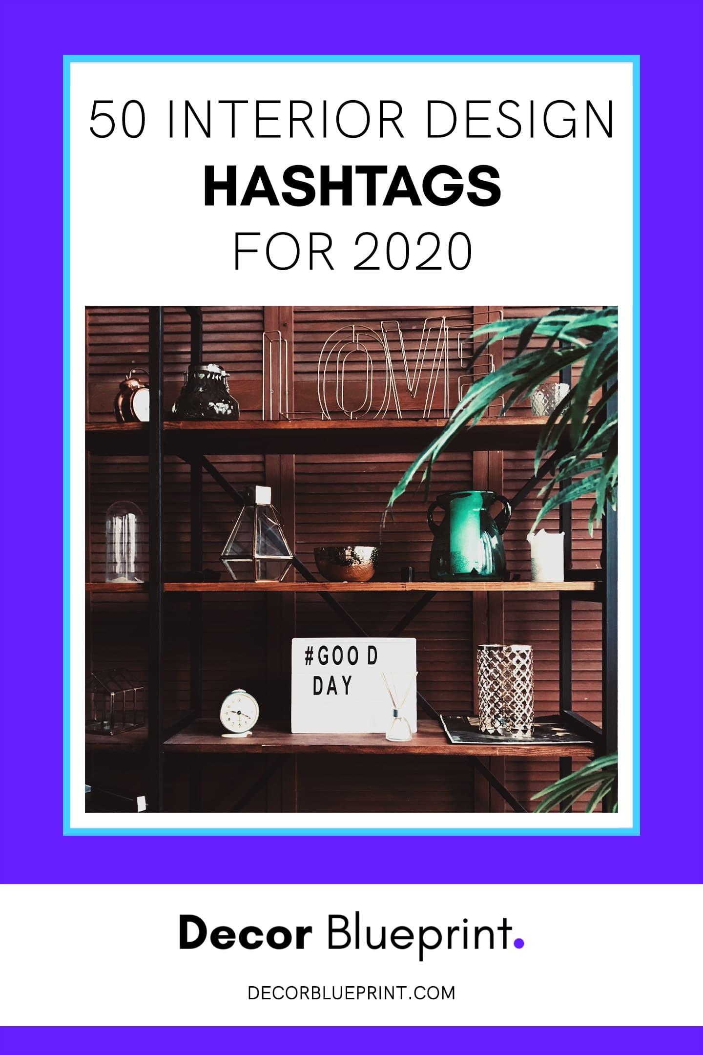 interior design hashtags 2020
